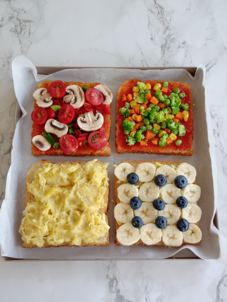 四种口味吐司披萨丨营养快手早餐的做法 步骤3