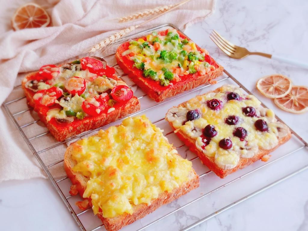 四种口味吐司披萨丨营养快手早餐的做法 步骤4