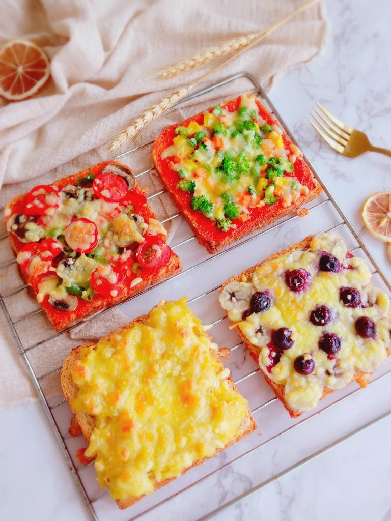 四种口味吐司披萨丨营养快手早餐的做法步骤图