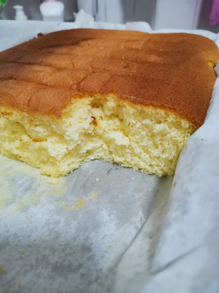 蜂窝海绵全蛋蛋糕的做法