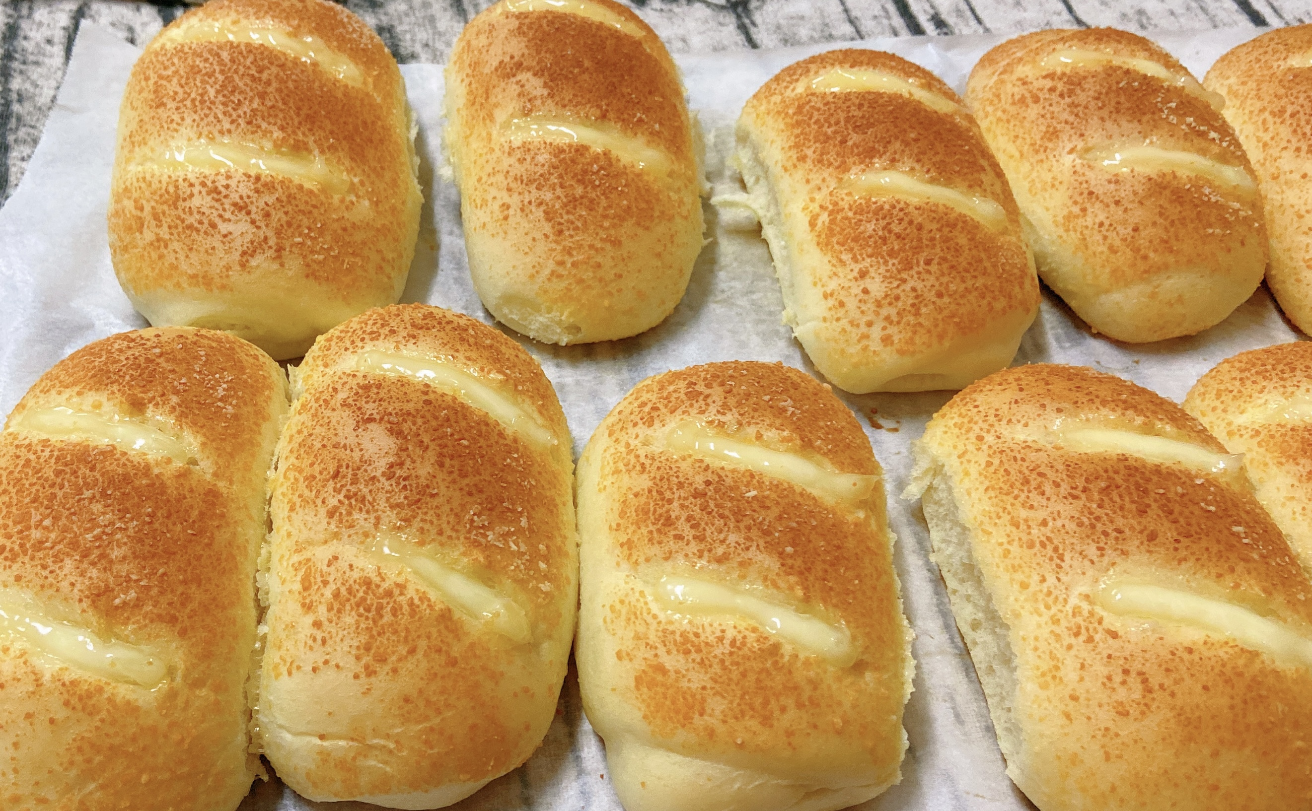 芝士火腿面包(一次发酵)的做法步骤图