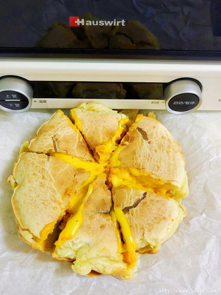 零失败外脆里糯芝士红薯烤年糕的做法 步骤8