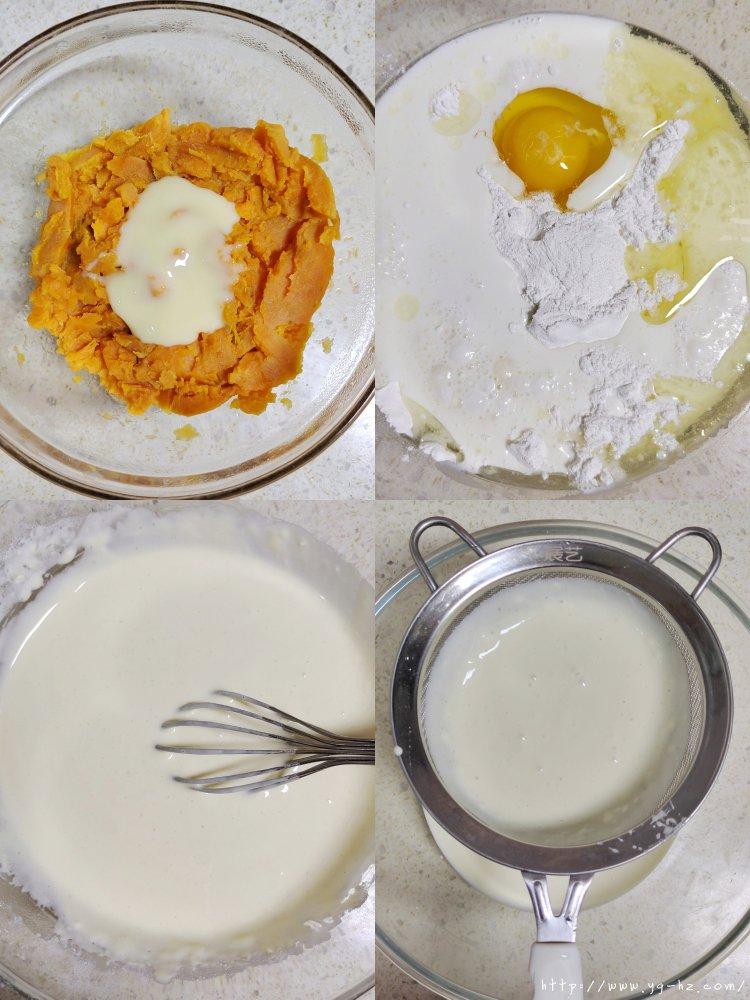 零失败外脆里糯芝士红薯烤年糕的做法 步骤2