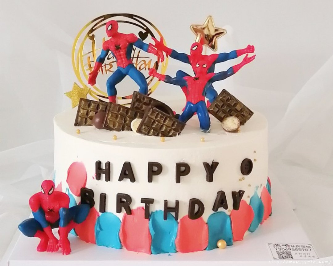 蜘蛛侠生日蛋糕(记录我做过的生日蛋糕)的做法