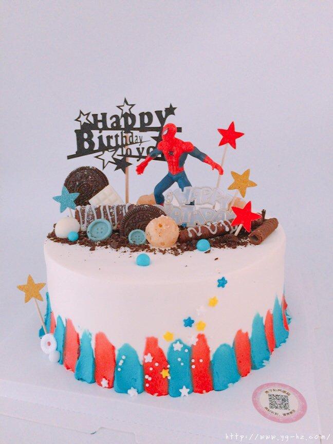 蜘蛛侠生日蛋糕(记录我做过的生日蛋糕)的做法 步骤3
