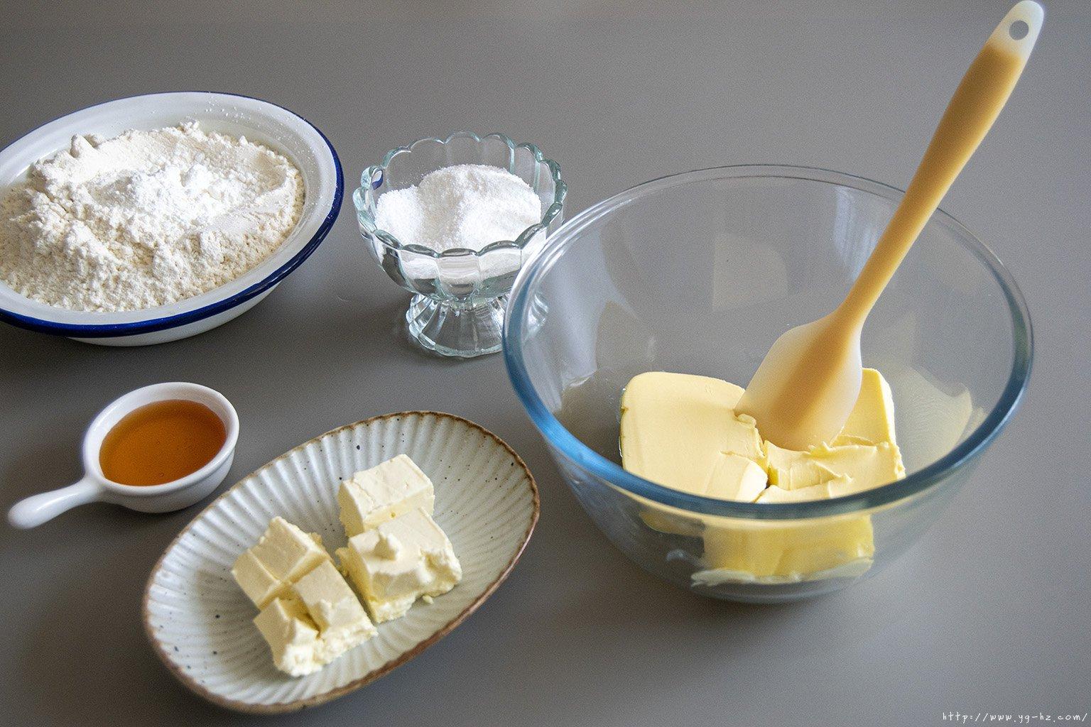 不用模具!简单又美味!!中秋  奶酪月饼的做法 步骤1