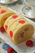 手绘樱桃蛋糕卷的做法