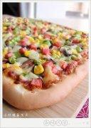 火腿鲜菇披萨的做法