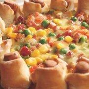 火腿花边披萨的做法